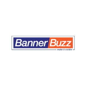 Logo for BannerBuzz teacher discount on custom banners